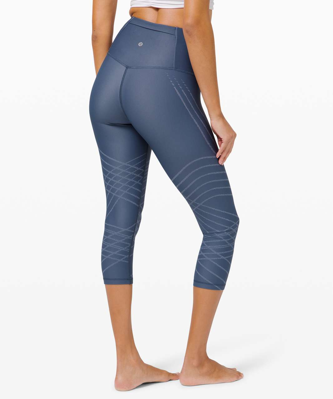 """Lululemon Mapped Out High-Rise Crop 21"""" - Iron Blue / Chambray"""