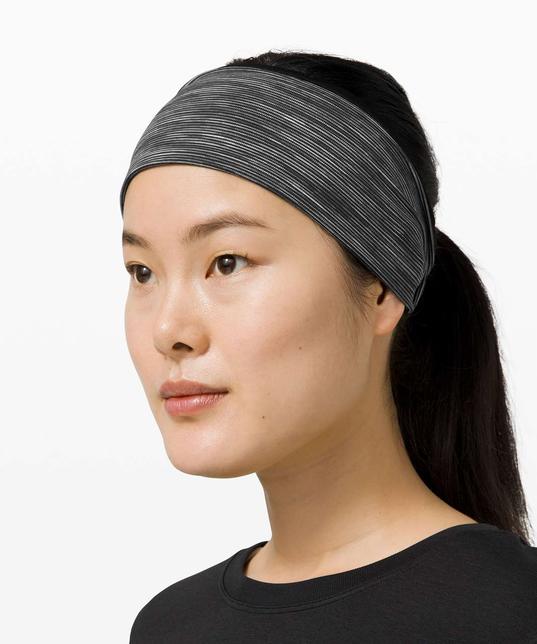 Lululemon Fringe Fighter Headband - Black / Wee Are From Space Dark Carbon Ice Grey