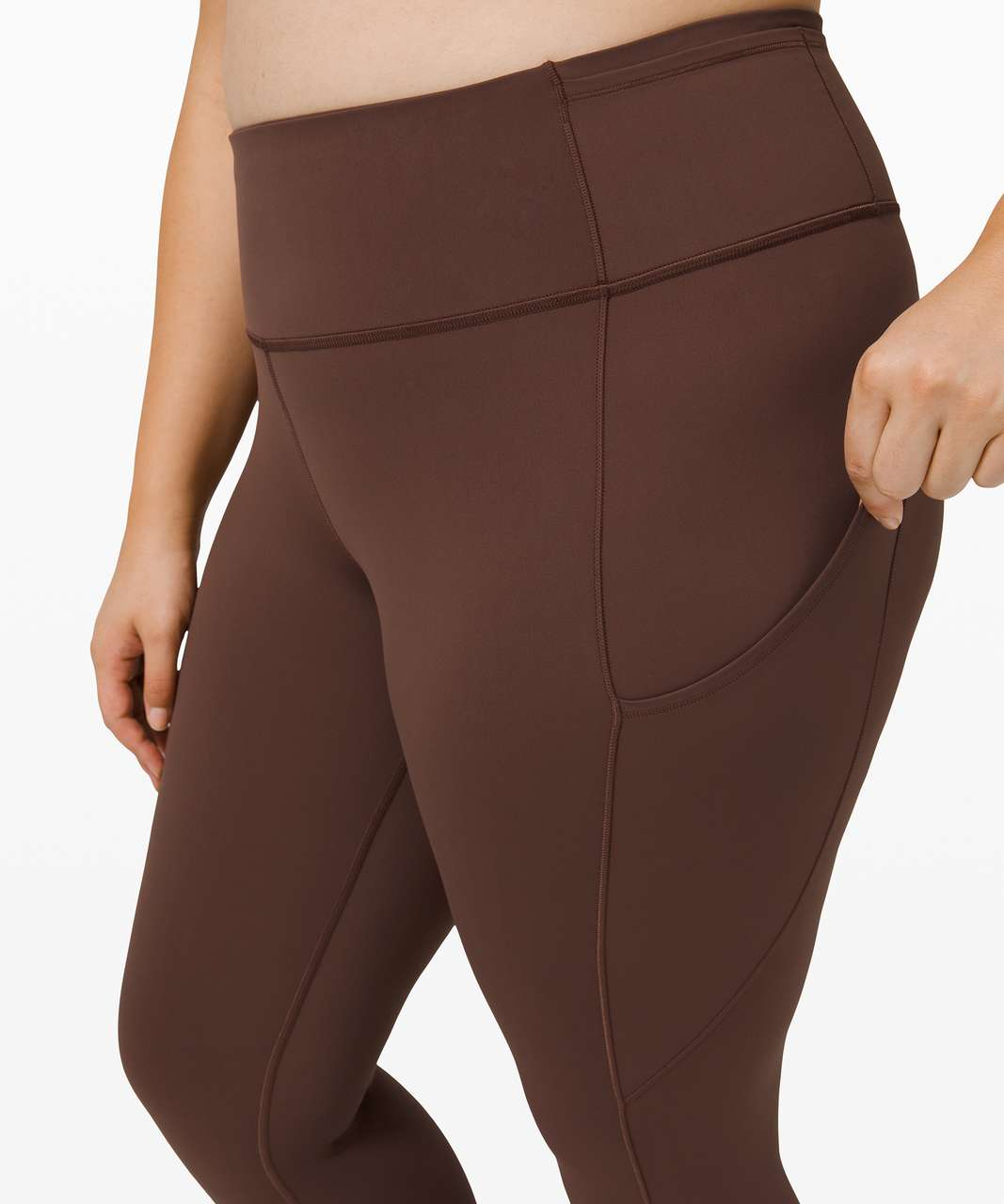 "Lululemon Fast and Free Tight II 25"" *Non-Reflective Nulux - Brown Earth"
