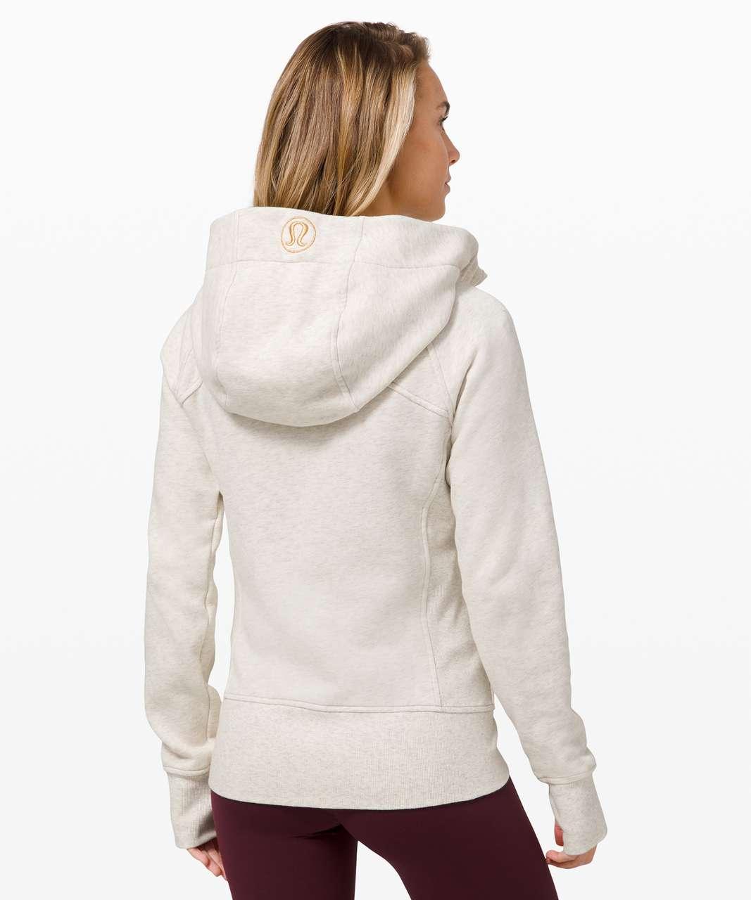 Lululemon Scuba Hoodie Gold *Light Cotton Fleece - Heathered Light Ivory / Gold