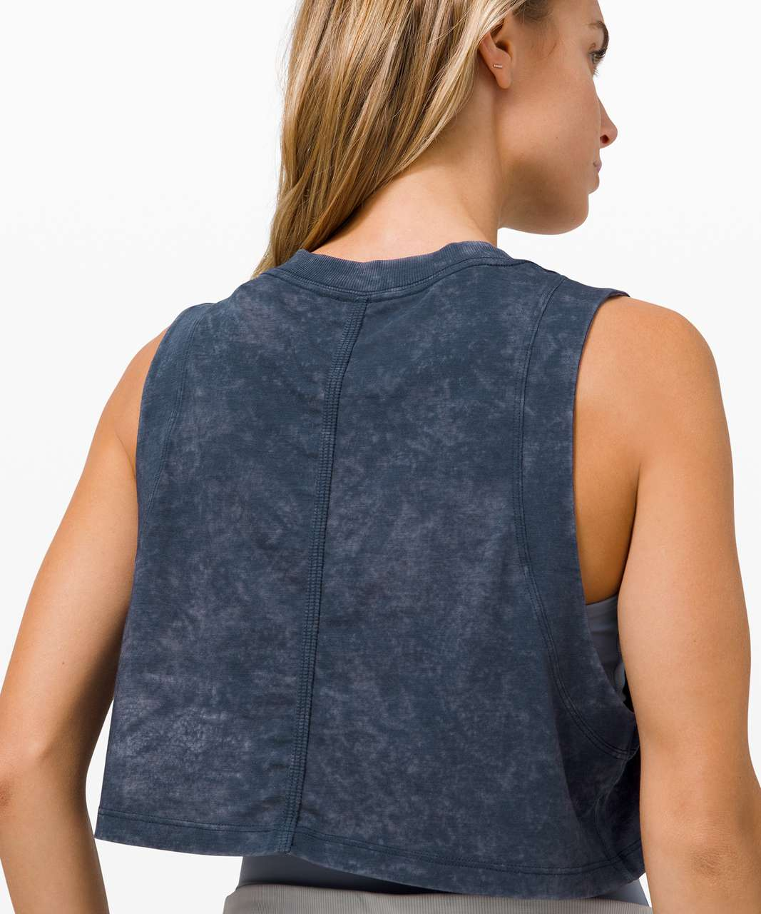 Lululemon All Yours Crop Tank *Wash - Cloudy Wash True Navy