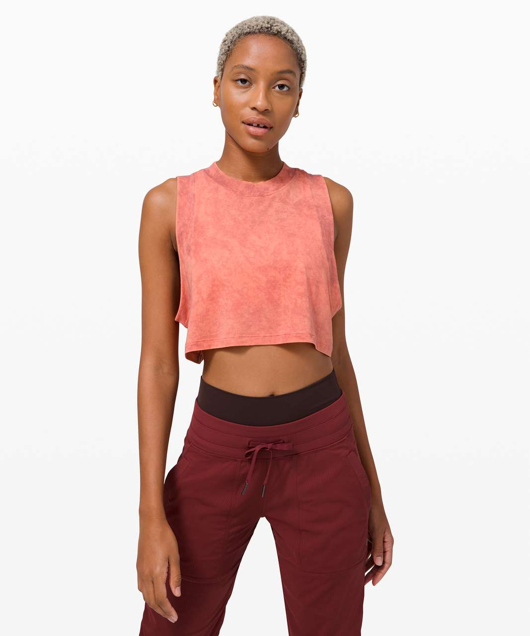 Lululemon All Yours Crop Tank *Wash - Cloudy Wash Cherry Tint