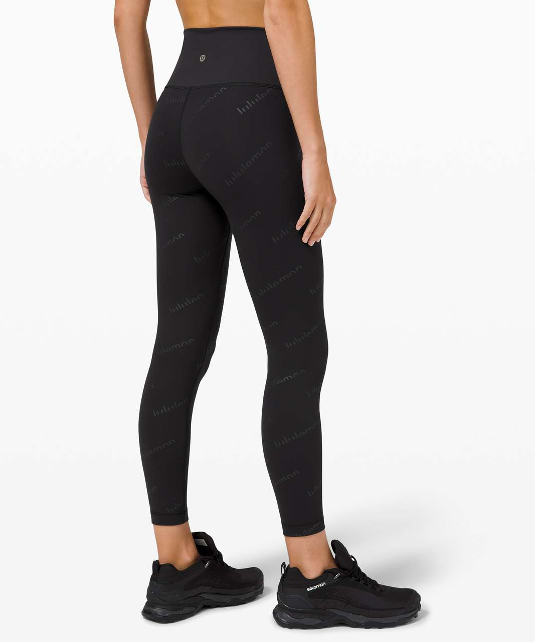"Lululemon Wunder Train High-Rise Tight 25"" *Special Edition - Embossed Lululemon Black"