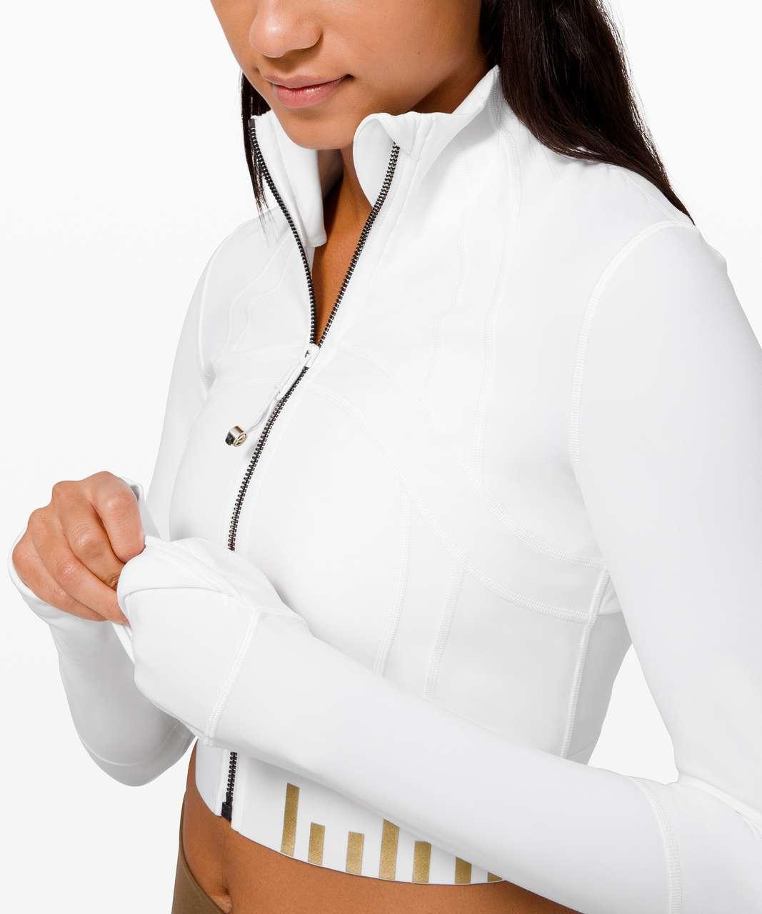 Lululemon Define Jacket Cropped *Gold - White