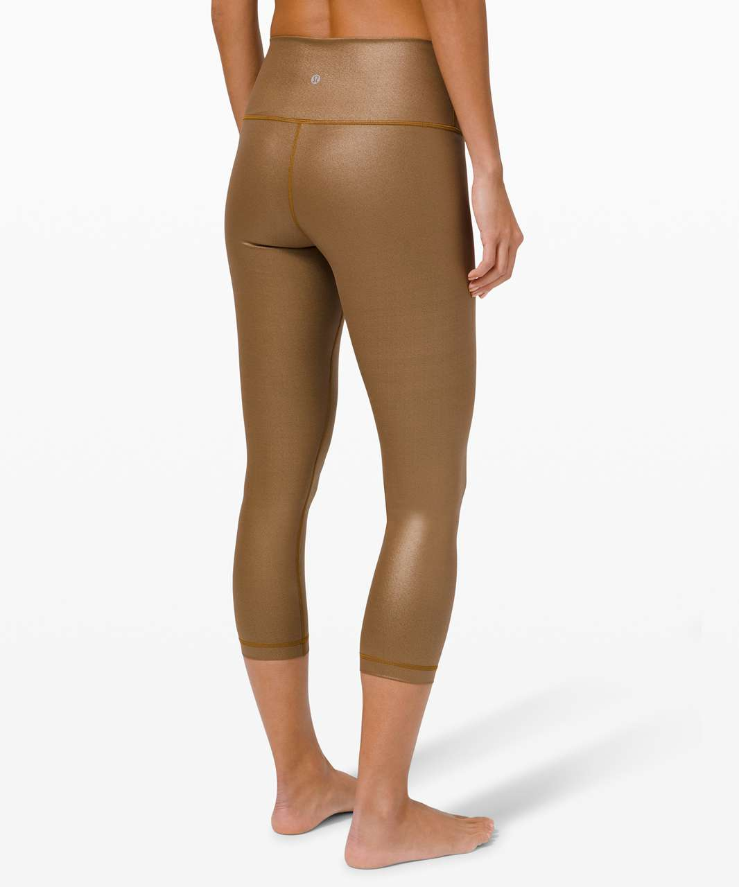 "Lululemon Wunder Under High-Rise Crop 23"" Foil *Full-On Luxtreme - Matte Copper Foil"