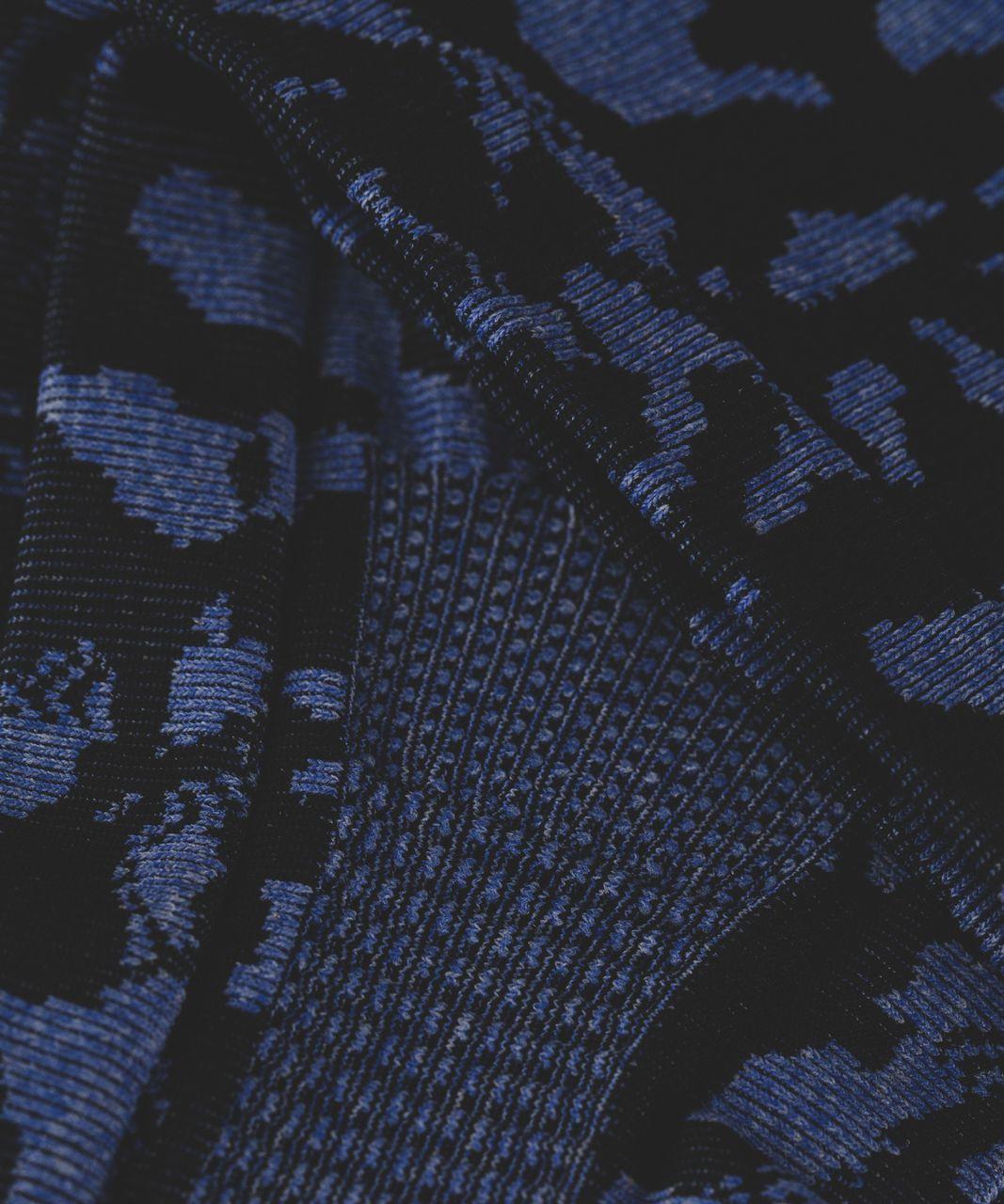 Lululemon Bangs Back Headwrap - Heathered Sapphire Blue / Black