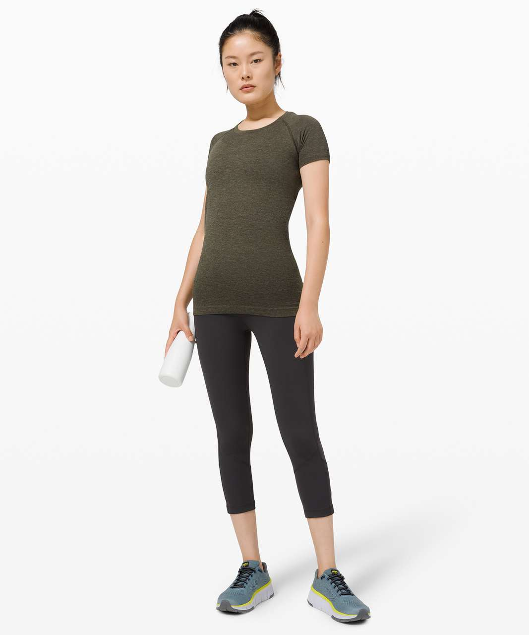 Lululemon Swiftly Tech Short Sleeve 2.0 - Grey Sage / Dark Olive