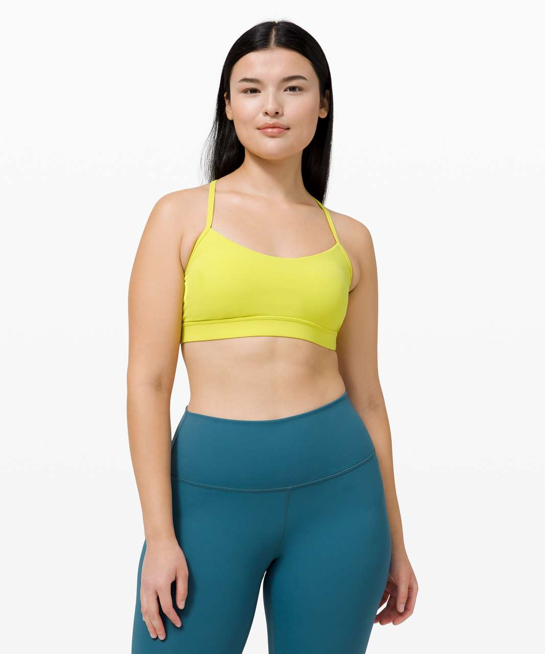 Lululemon Flow Y Bra Nulu *Light Support, B/C Cup - Yellow Serpentine