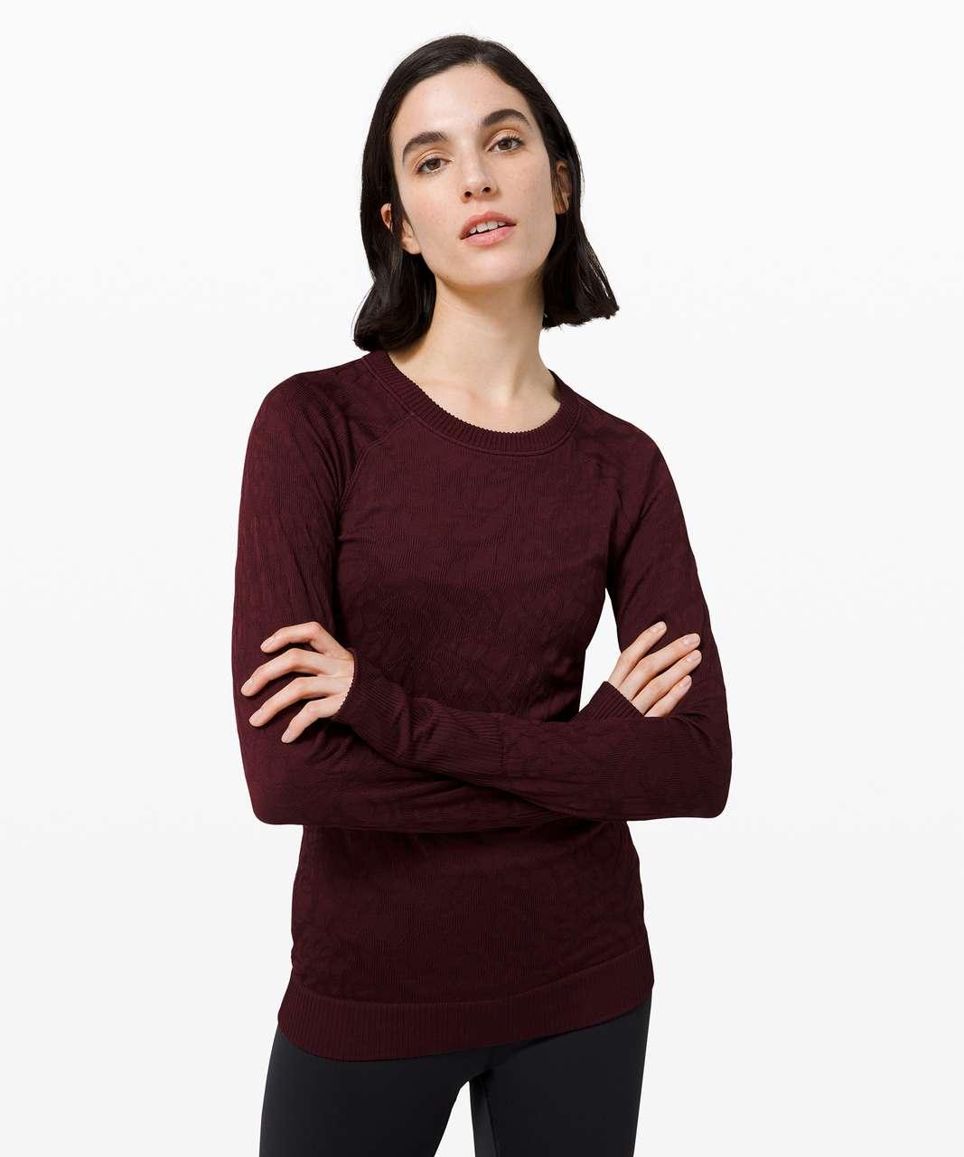 Lululemon Rest Less Pullover - Garnet / Garnet