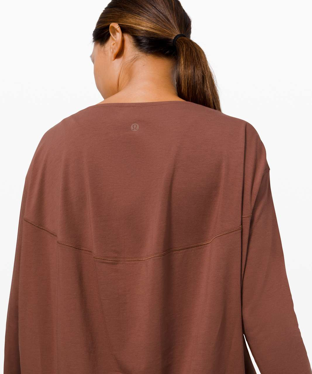Lululemon Back In Action Long Sleeve - Ancient Copper
