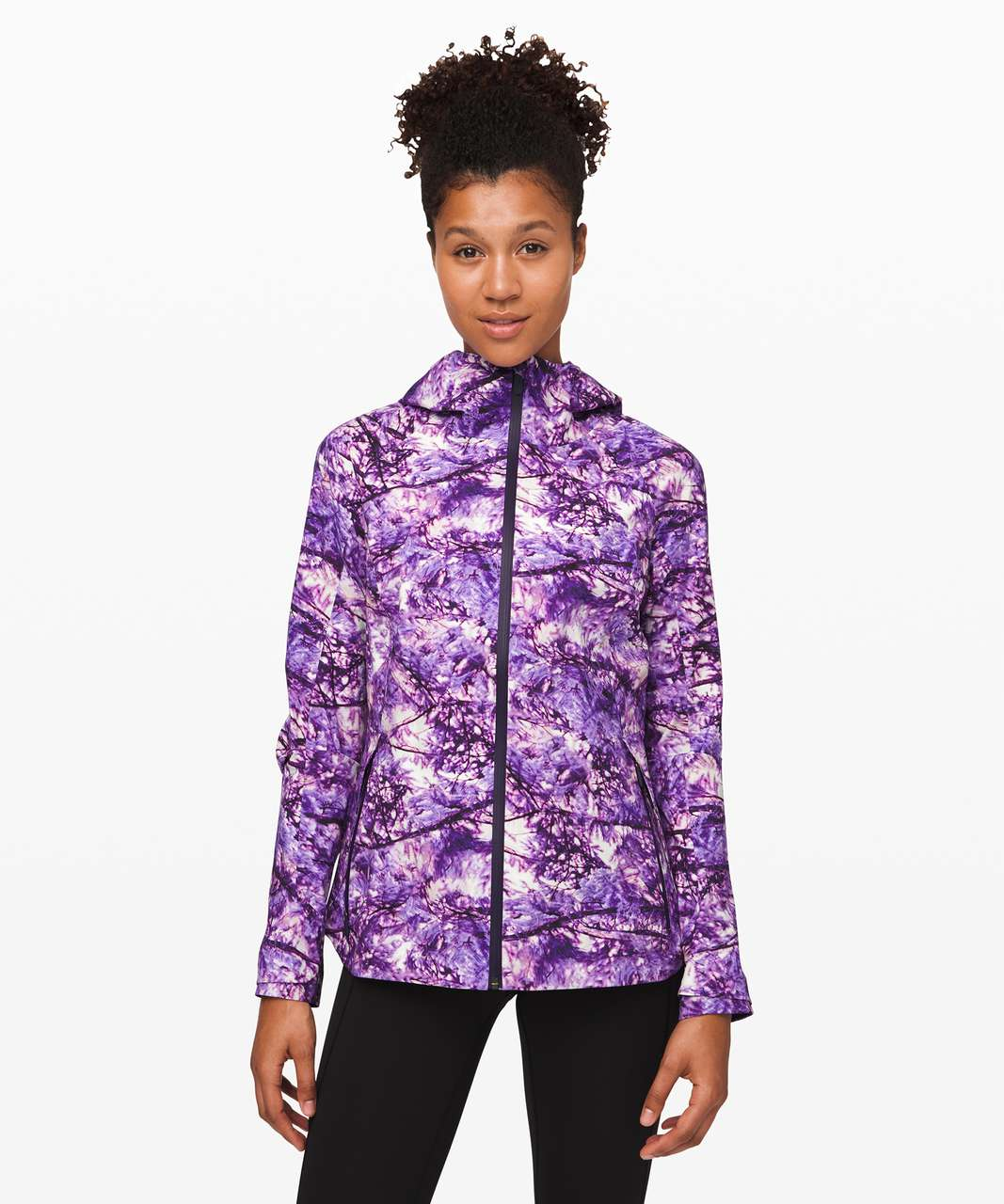 Lululemon The Rain Is Calling Jacket - Fractal Forest Pink Multi