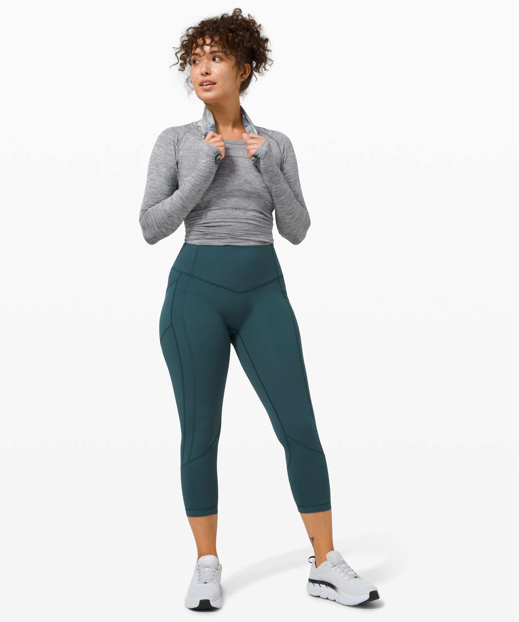 """Lululemon All The Right Places Crop II *23"""" - Submarine"""