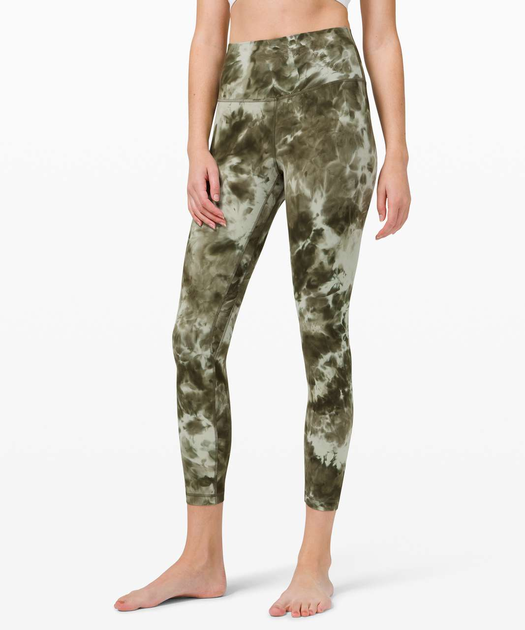 "Lululemon Align Pant 25"" *Diamond Dye - Diamond Dye Light Sage Army Green Dark Olive"