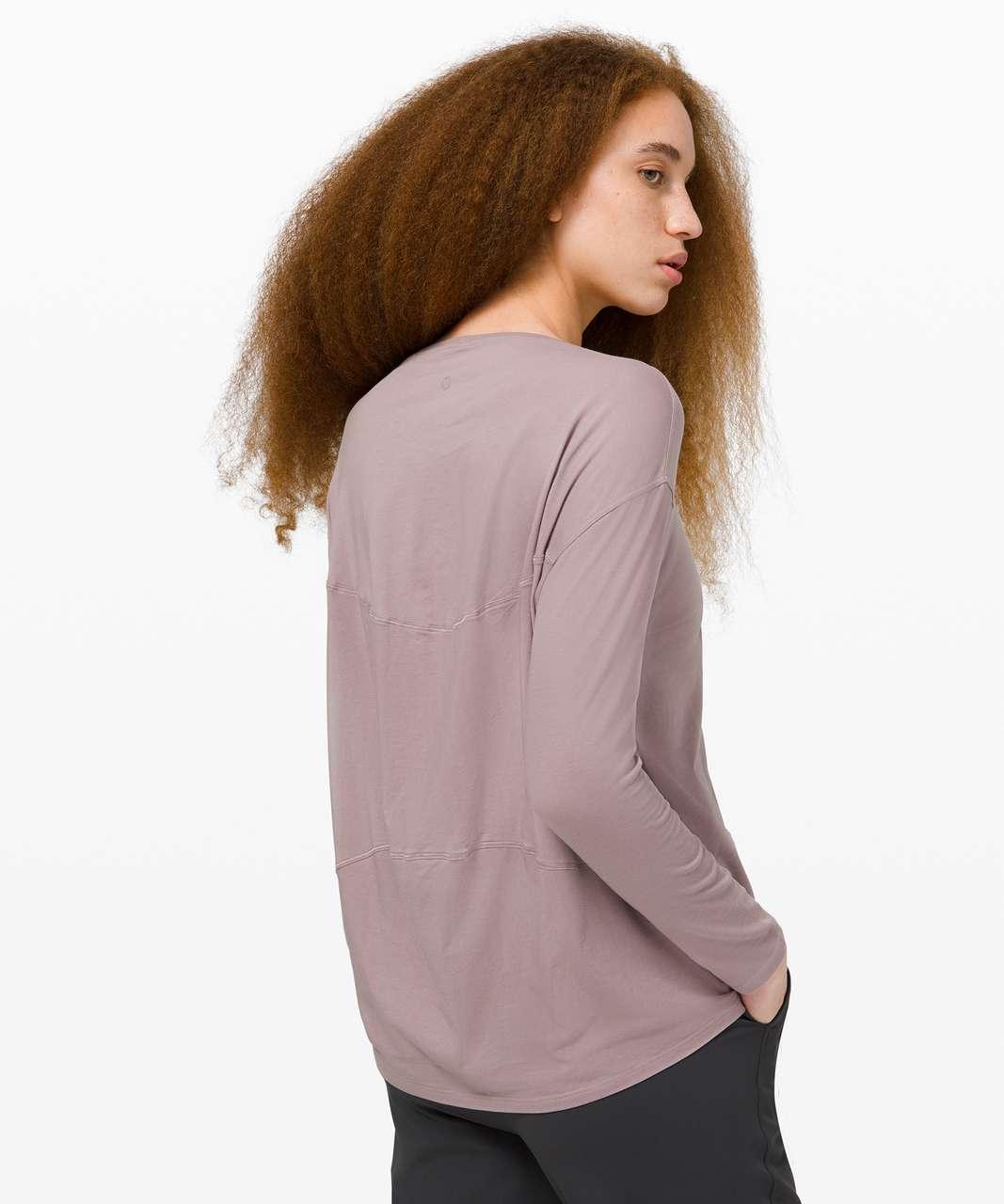 Lululemon Back In Action Long Sleeve - Violet Verbena