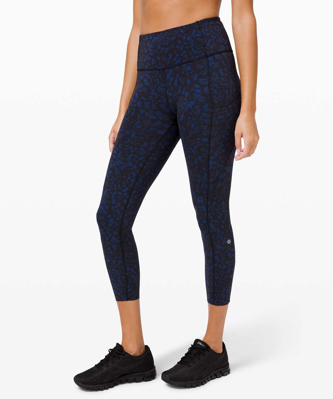 """Lululemon Fast and Free High-Rise Crop II 23"""" *Non-Reflective - Wild Thing Camo Larkspur Multi"""
