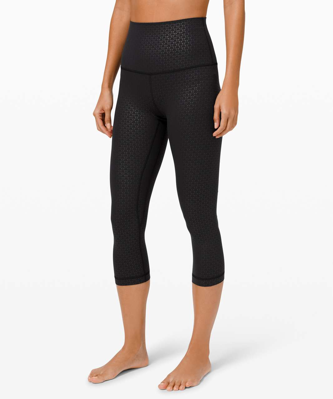 "Lululemon Align Super High-Rise Crop 21"" - Lattice Work Emboss Black"