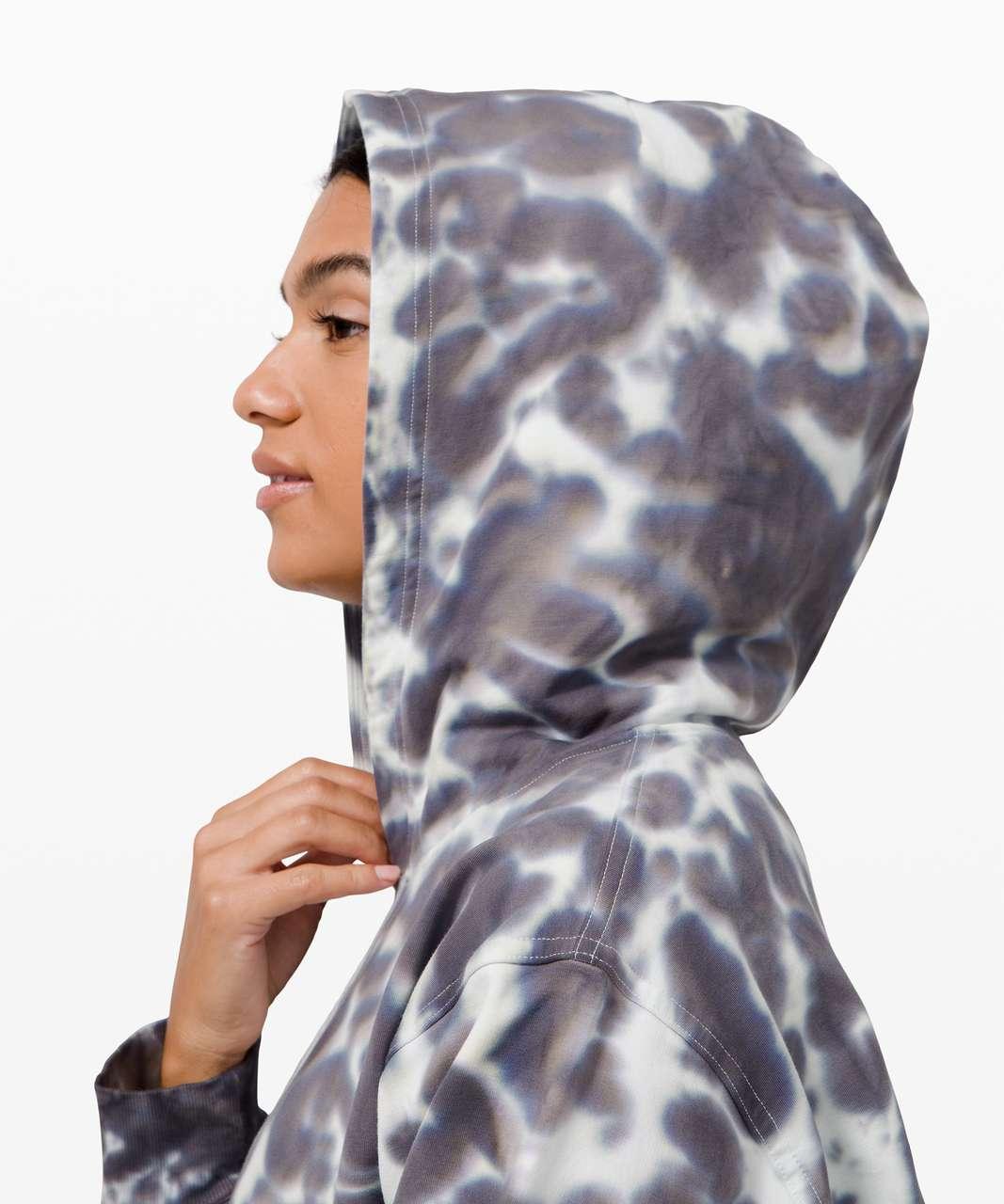 Lululemon All Yours Hoodie Tie Dye *Fleece - Marmoleado Tie Dye Graphite Grey