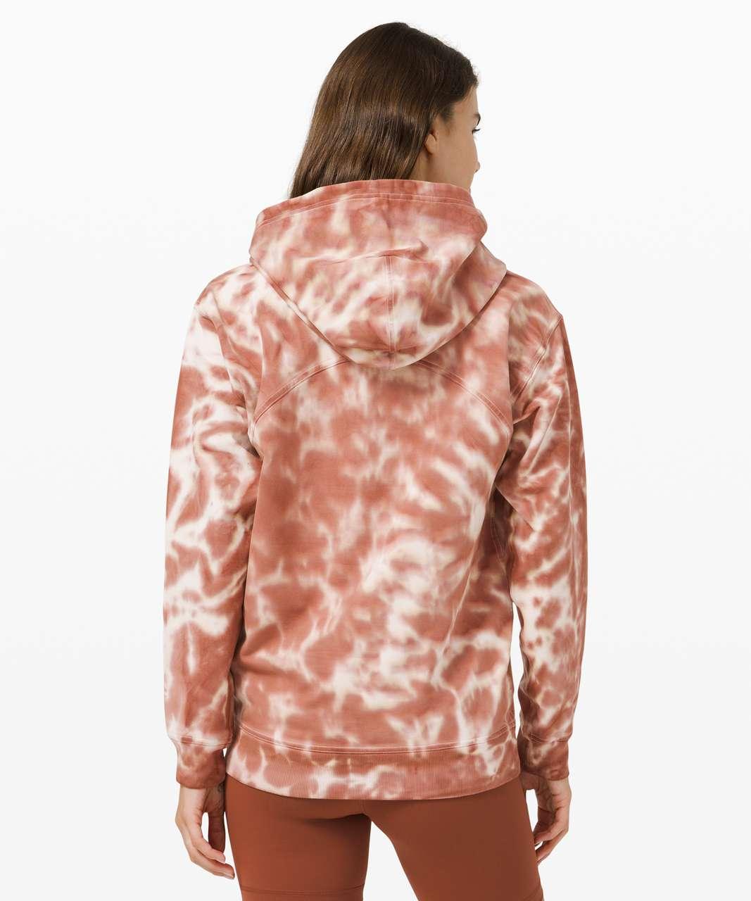 Lululemon All Yours Hoodie Tie Dye *Fleece - Marmoleado Tie Dye Ancient Copper