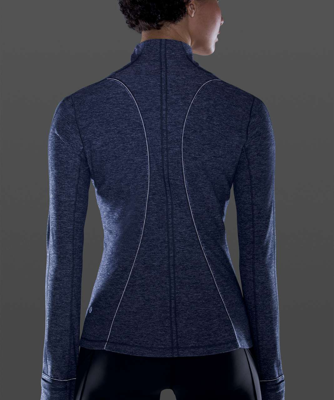 Lululemon Run Briskly 1/2 Zip - Heathered Cadet Blue