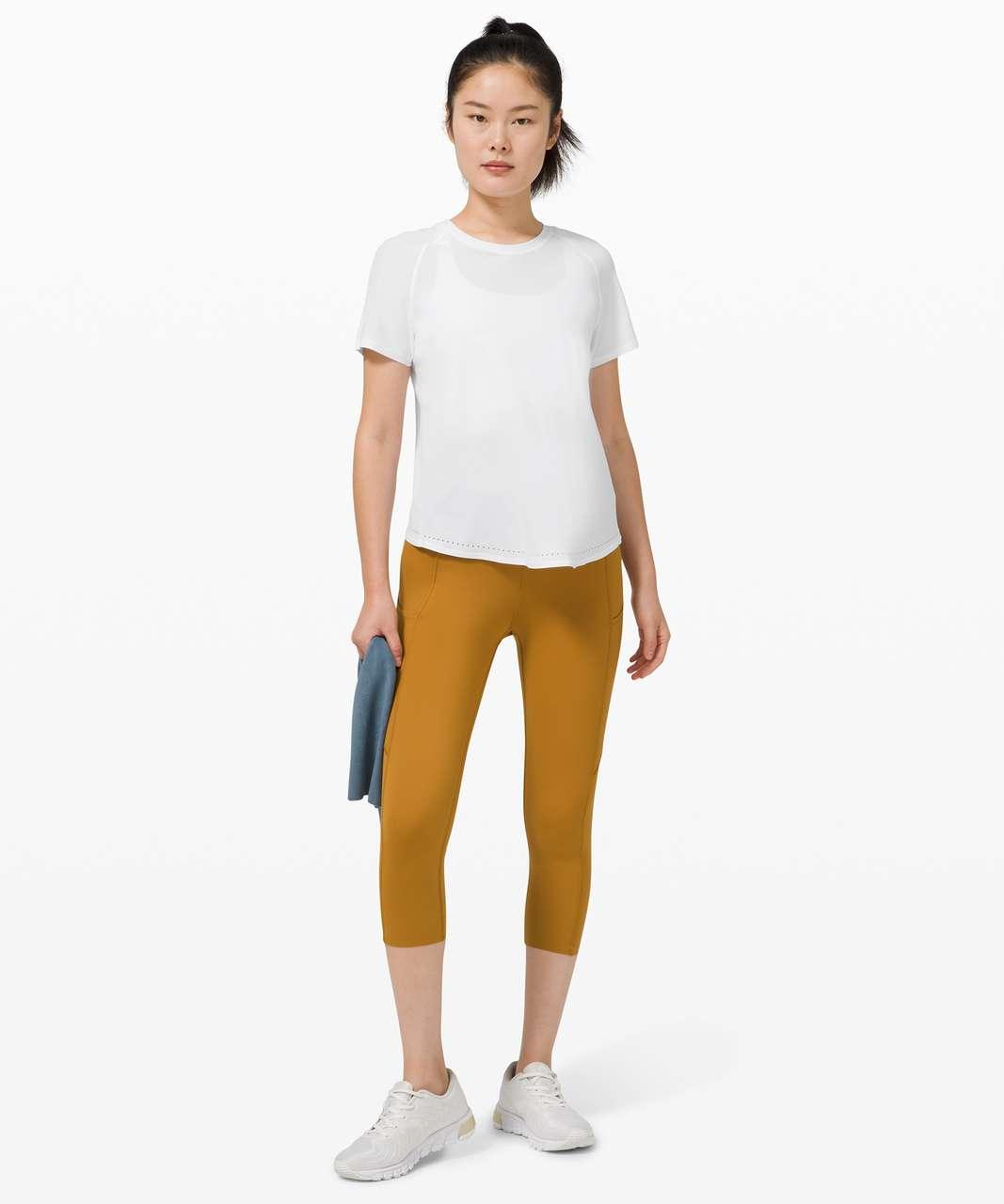 Lululemon Rise and Run Short Sleeve - White