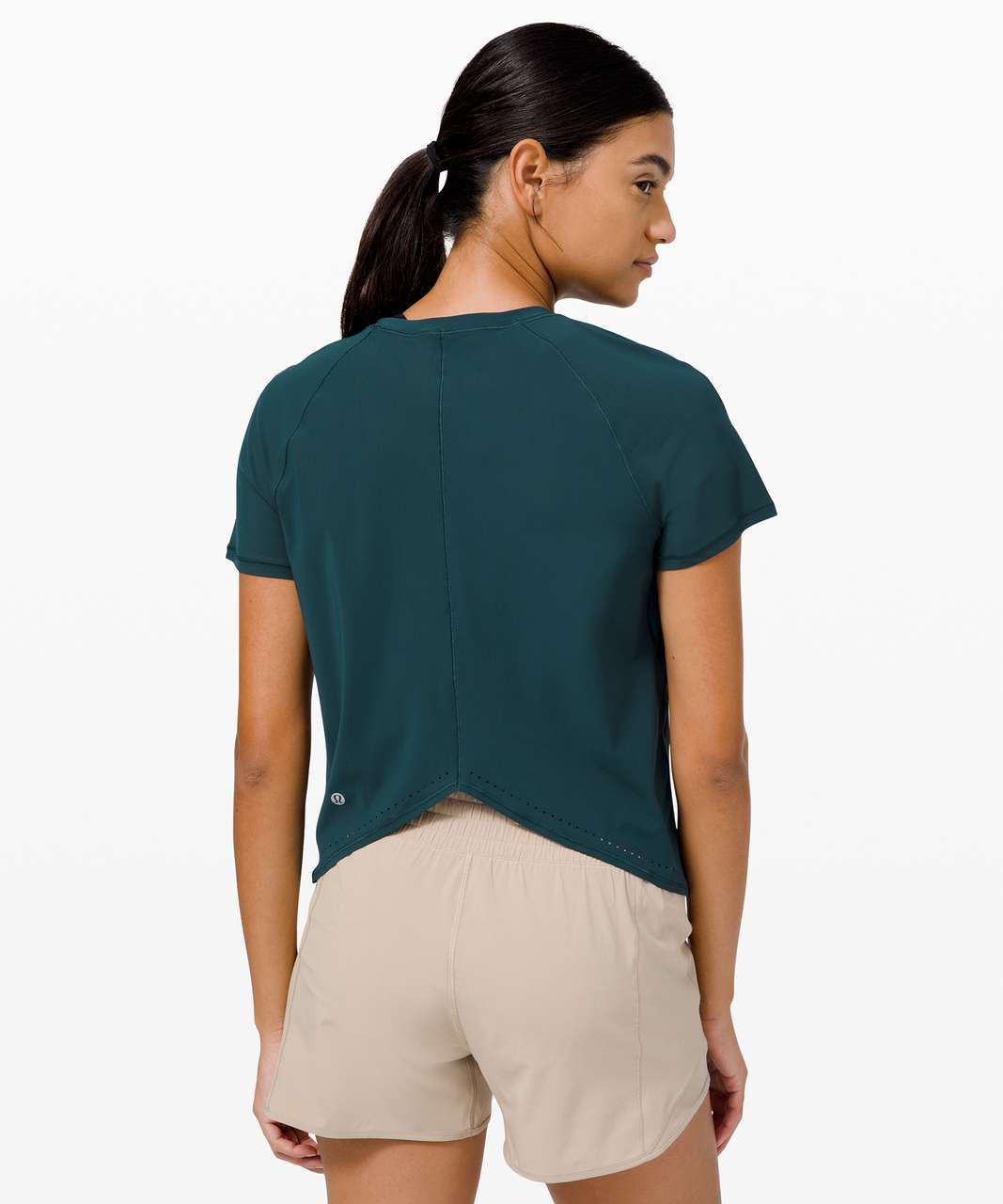 Lululemon Rise and Run Short Sleeve - Submarine