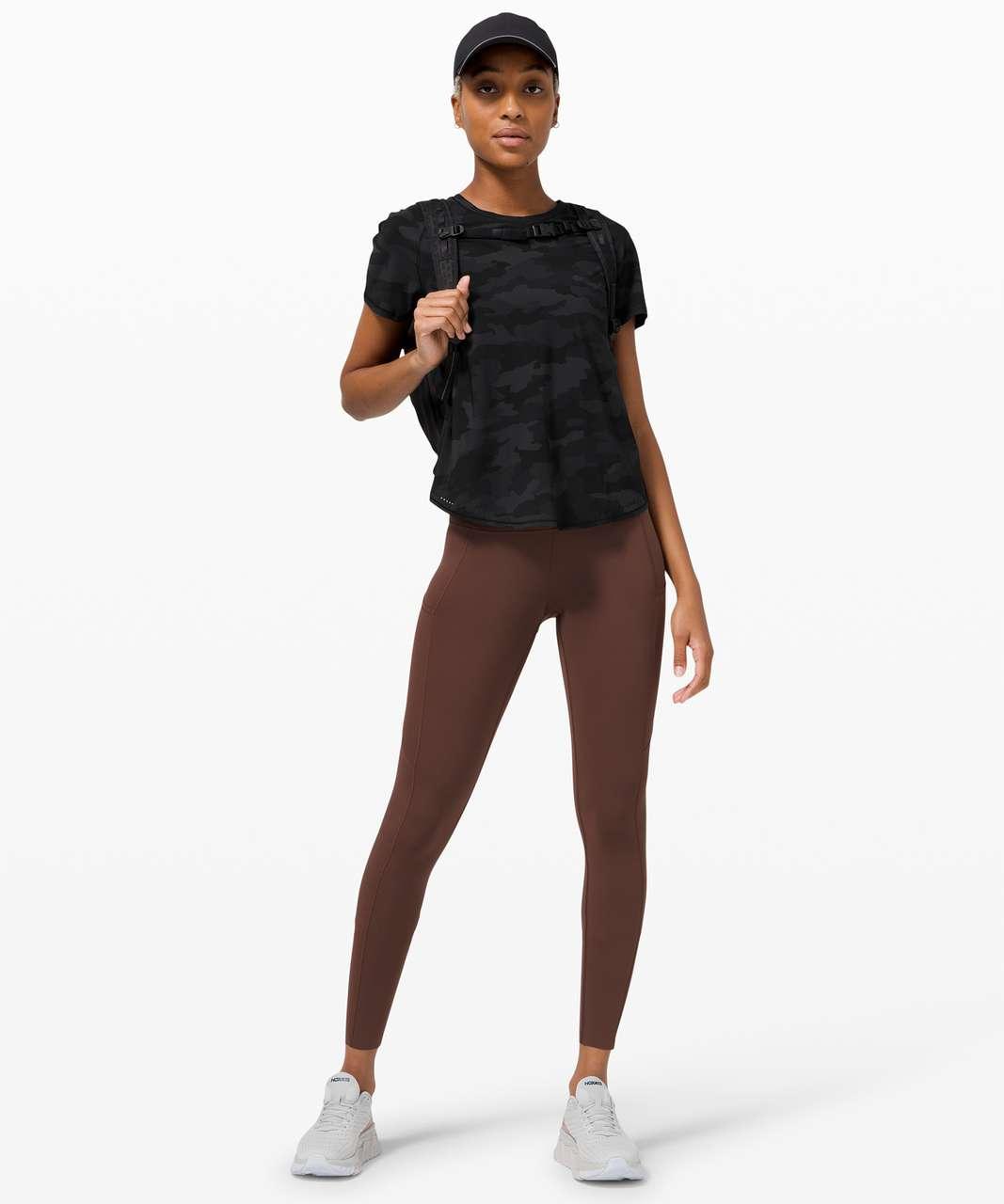 Lululemon Rise and Run Short Sleeve - Heritage 365 Camo Deep Coal Multi