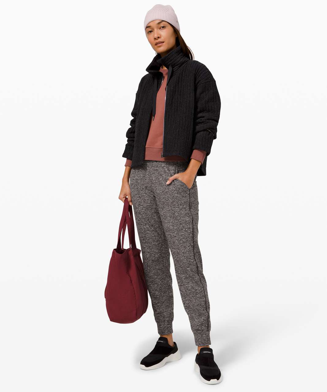 Lululemon Ready to Rulu Fleece Jogger - Heathered Black