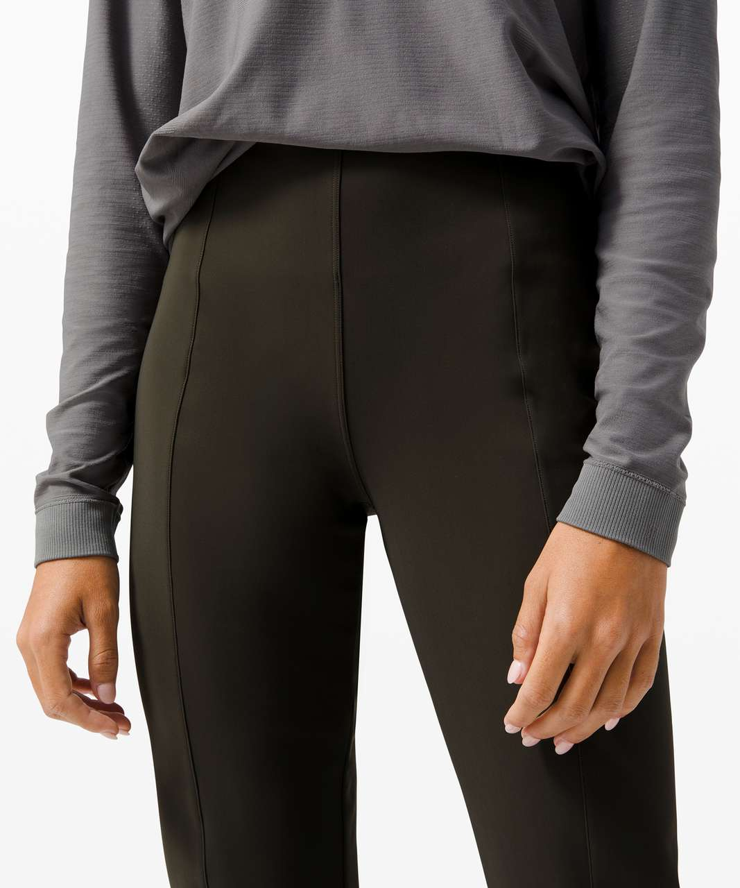 Lululemon Here to There High-Rise 7/8 Pant - Dark Olive / Dark Olive