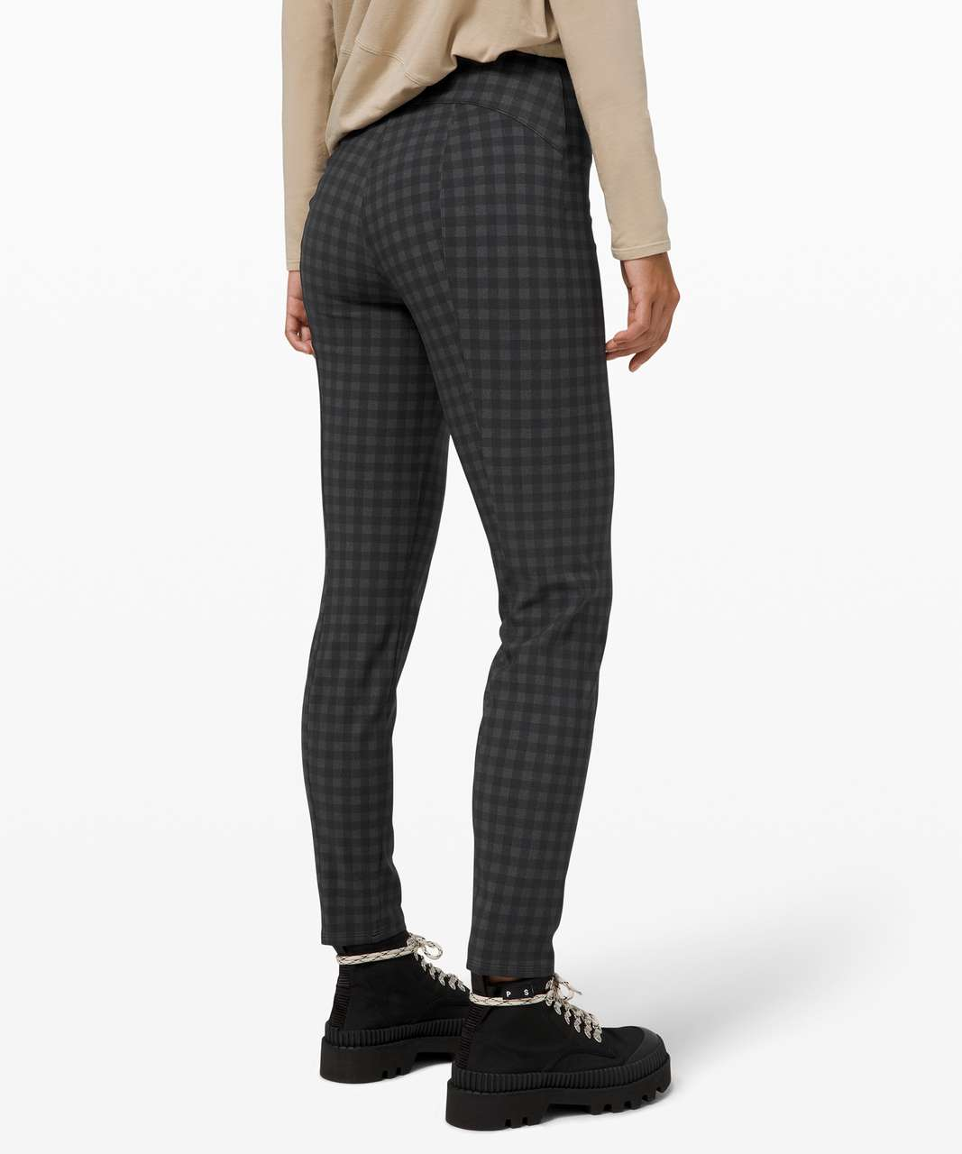 Lululemon Here to There High-Rise 7/8 Pant - Brighton Buffalo Print Graphite Grey Black / Black