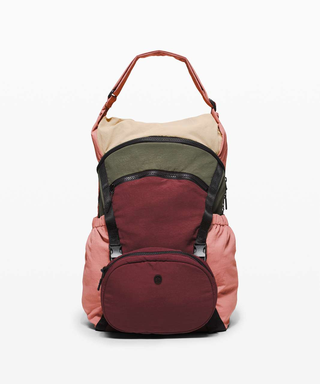 Lululemon Pack and Go Backpack - Deco Pink / Trench / Savannah / Army Green
