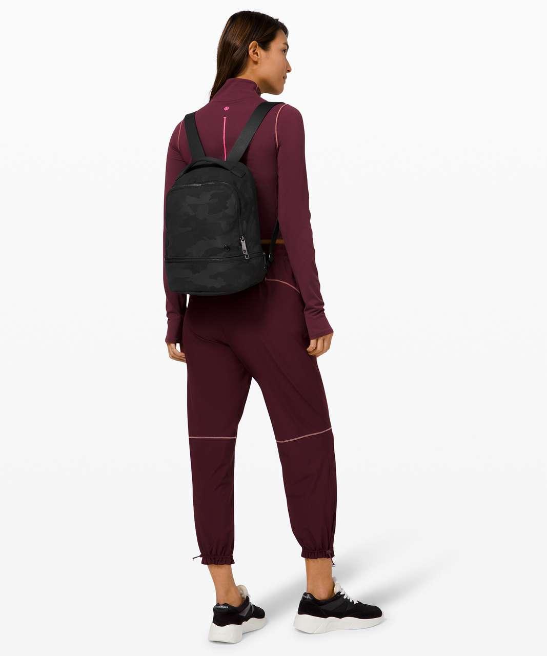 Lululemon City Adventurer Backpack Mini *10L - Heritage Camo Jacquard Max Black Graphite Grey