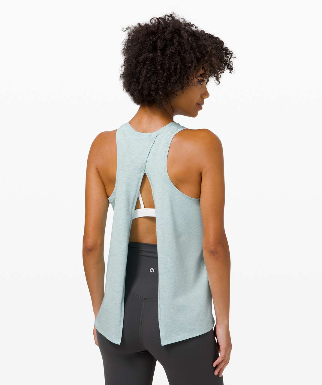 Lululemon All Tied Up Tank - Heathered Hazy Jade