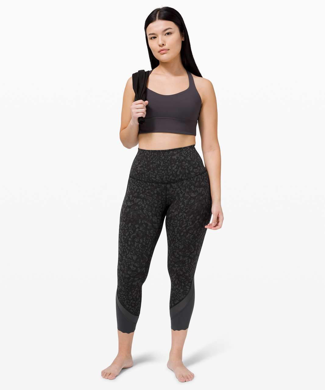 """Lululemon Wunder Under High-Rise Crop 23"""" *Updated Scallop Full-On Luxtreme - Wild Thing Camo Deep Coal Multi"""