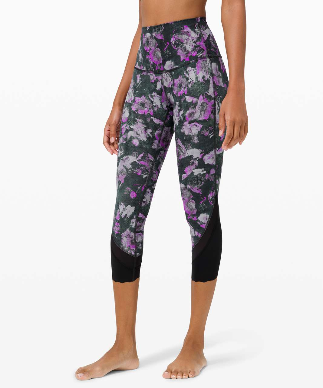 "Lululemon Wunder Under High-Rise Crop 23"" *Updated Scallop Full-On Luxtreme - Floral Shift Multi"