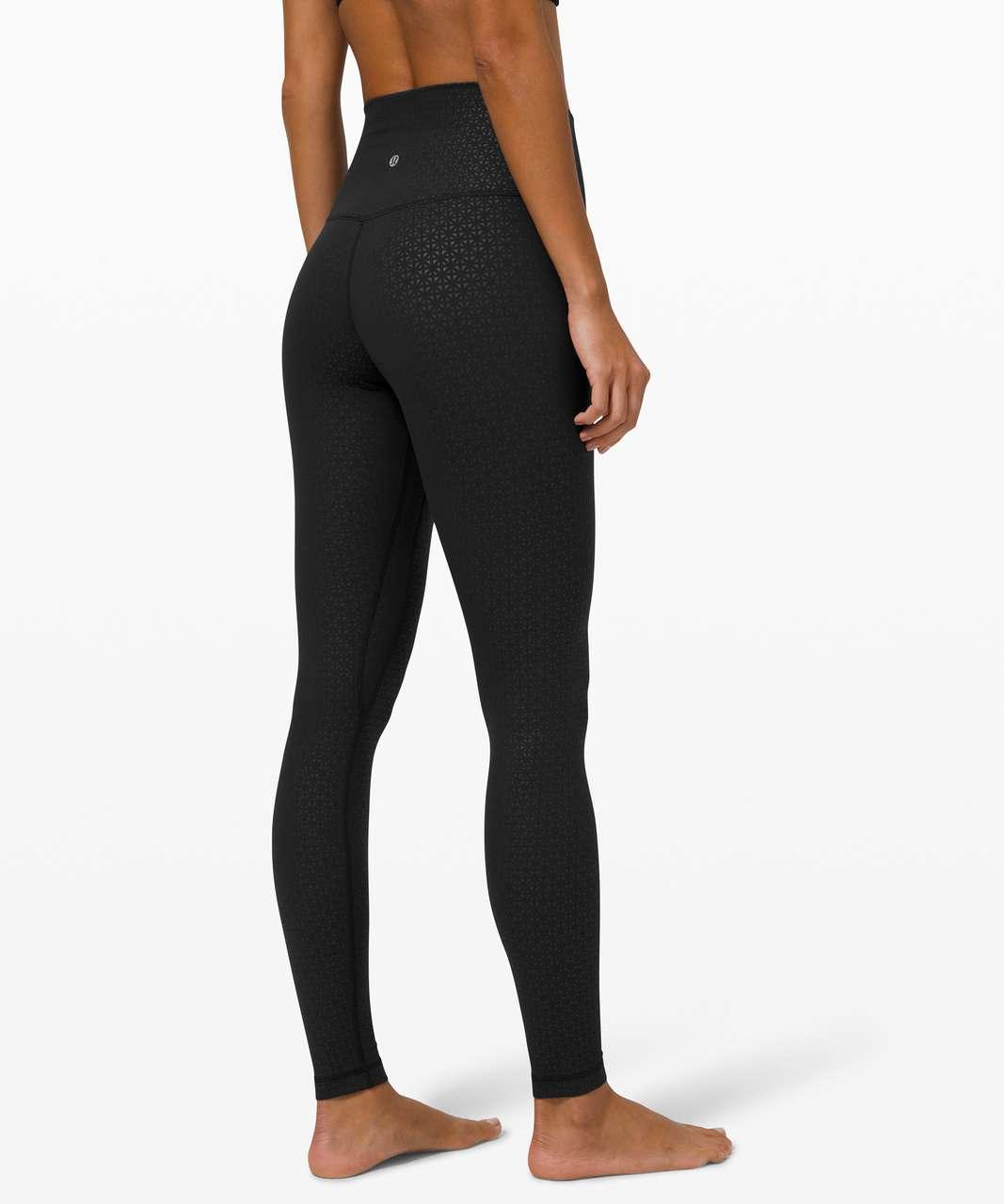 """Lululemon Align Pant 28"""" - Lattice Work Emboss Black"""