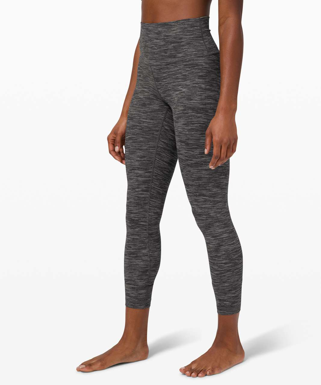 "Lululemon Wunder Under High-Rise Tight 25"" *Luxtreme - Wee Are From Space Dark Carbon Ice Grey"