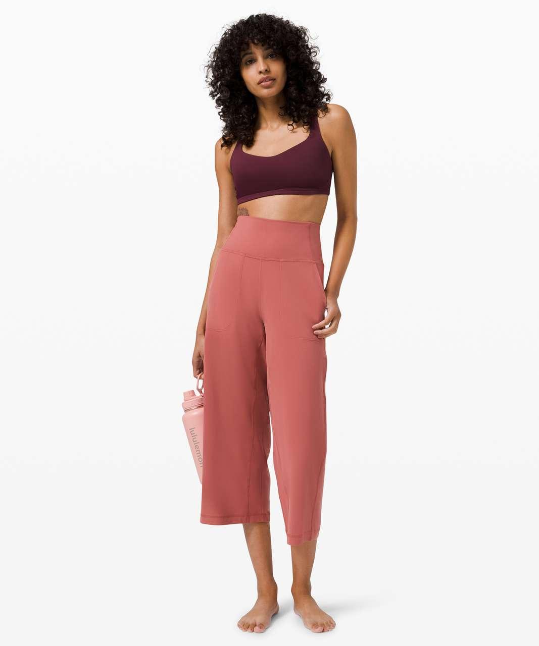 "Lululemon Align Wide Leg Crop 23"" - Soft Cranberry"