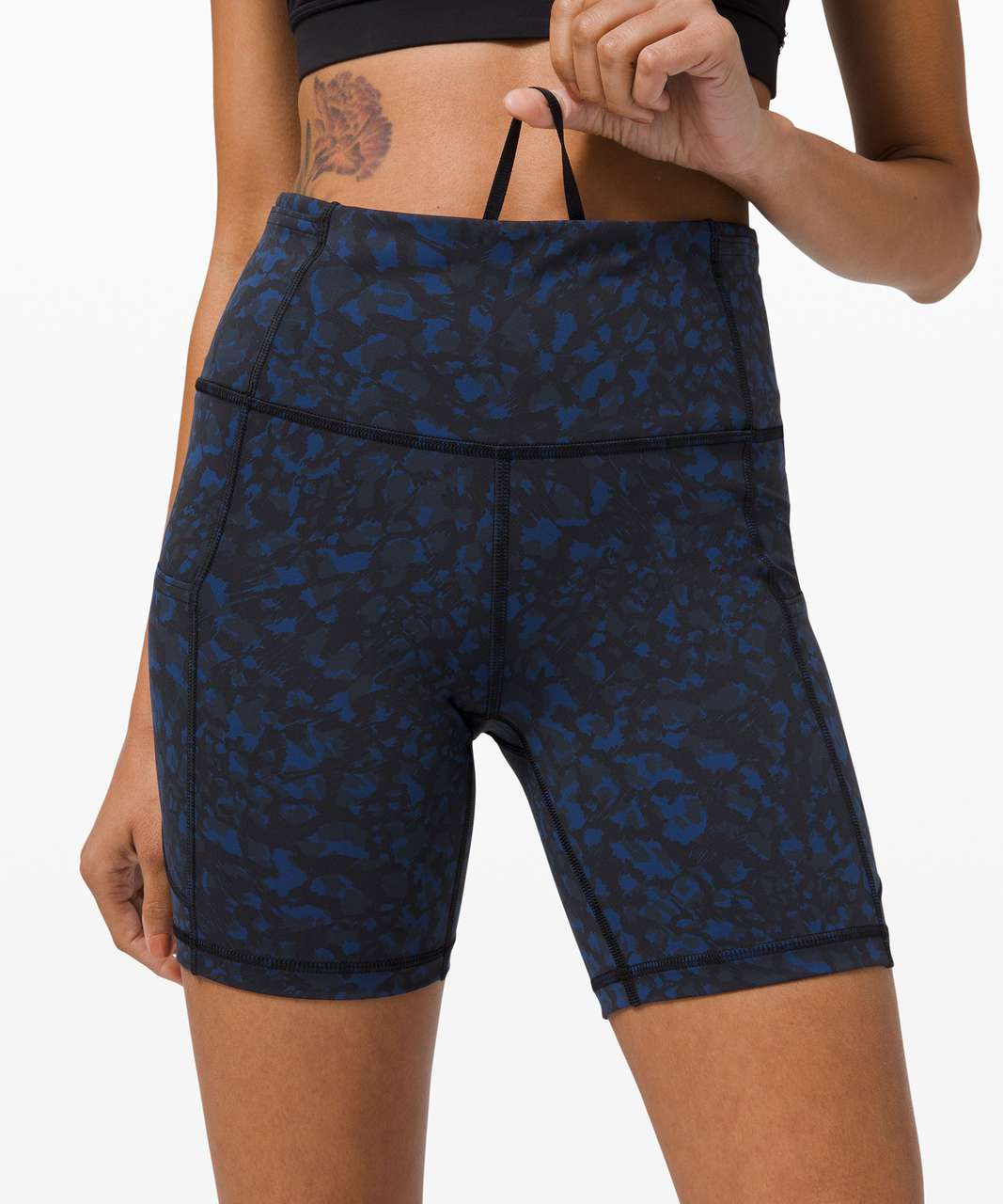 "Lululemon Fast and Free Short 6"" *Non-Reflective - Wild Thing Camo Larkspur Multi"