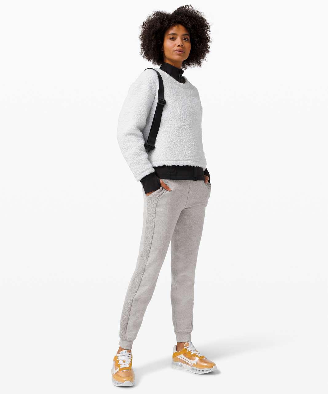 Lululemon Scuba Jogger *Sherpa Stripe - Heathered Core Light Grey