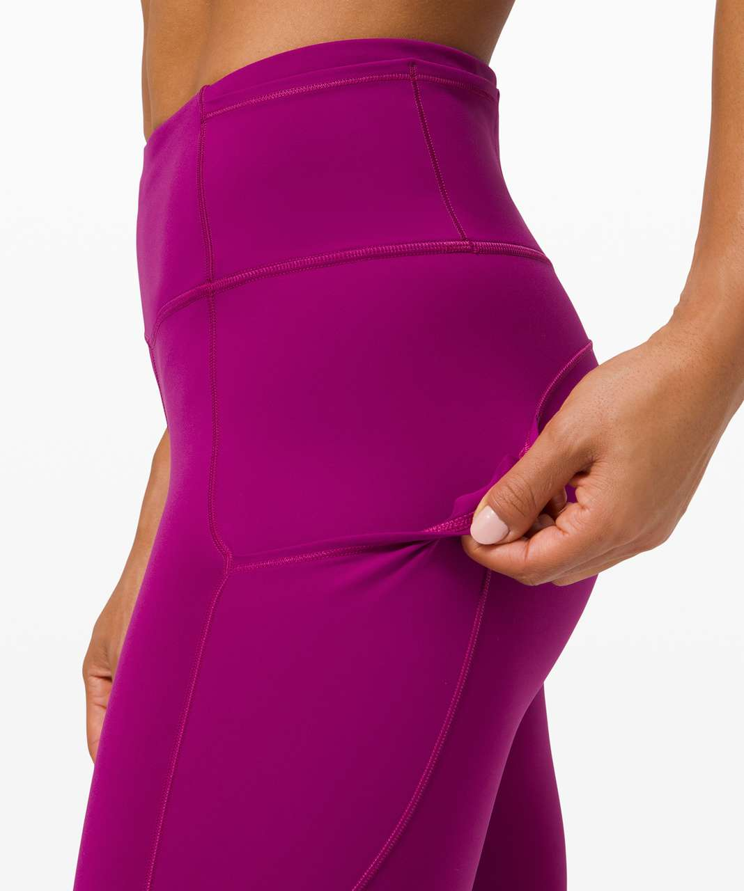 "Lululemon Fast and Free Tight II 25"" *Non-Reflective Nulux - Deep Fuschia"
