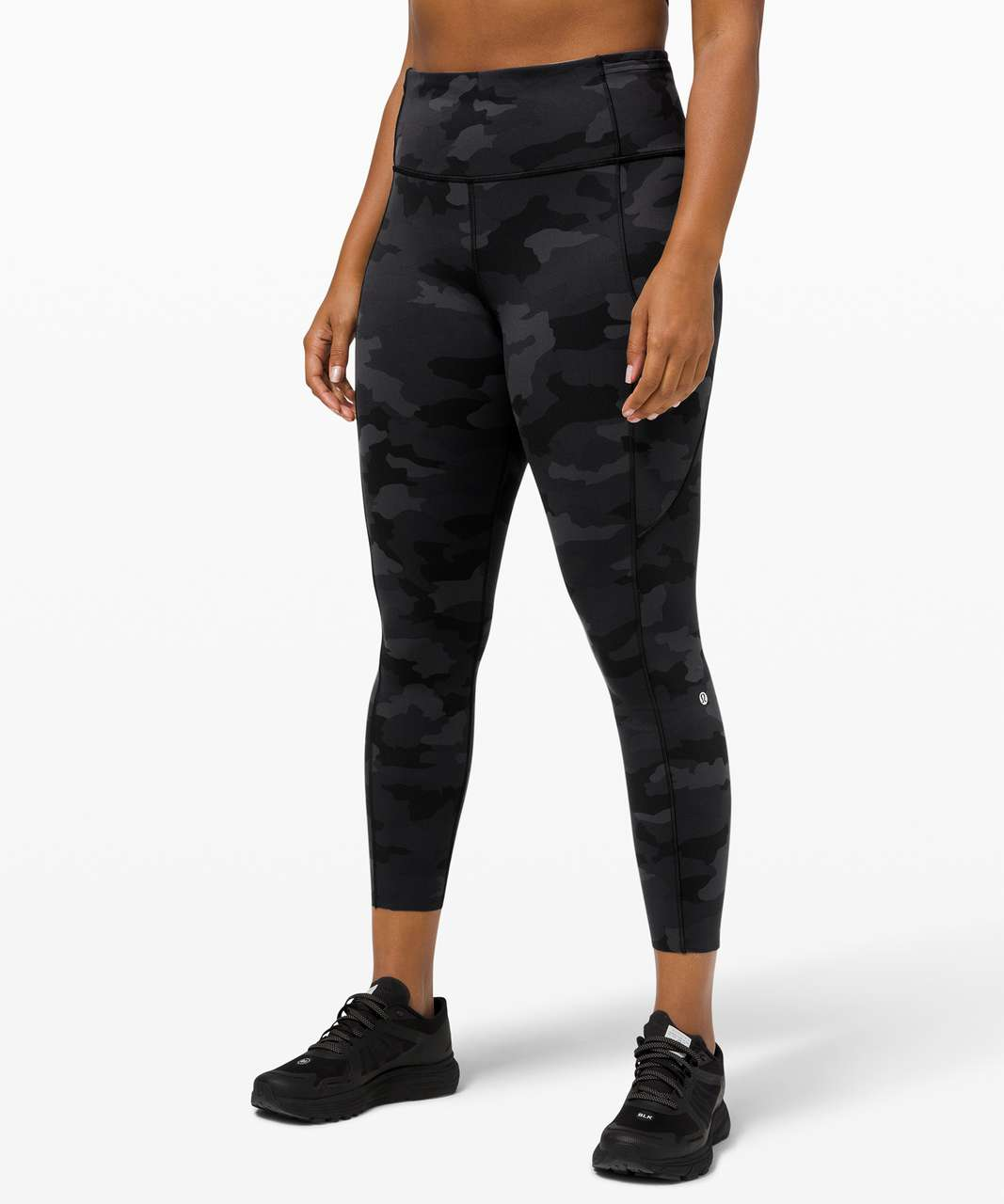 "Lululemon Fast and Free Tight II 25"" *Non-Reflective Nulux - Heritage 365 Camo Deep Coal Multi"