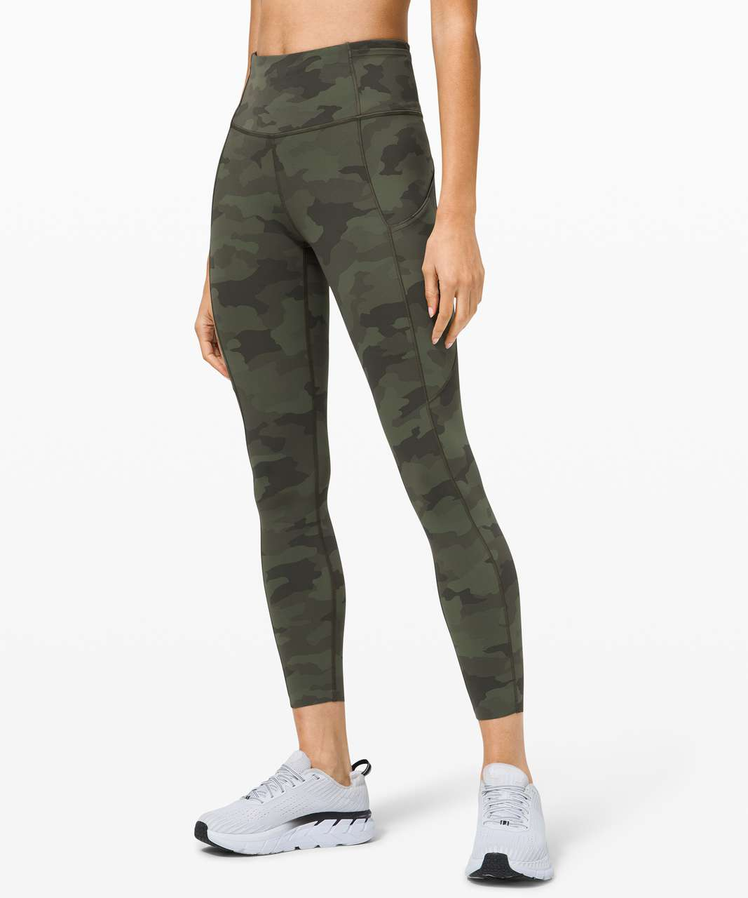 "Lululemon Fast and Free Tight II 25"" *Non-Reflective Nulux - Heritage 365 Camo Green Twill Multi"