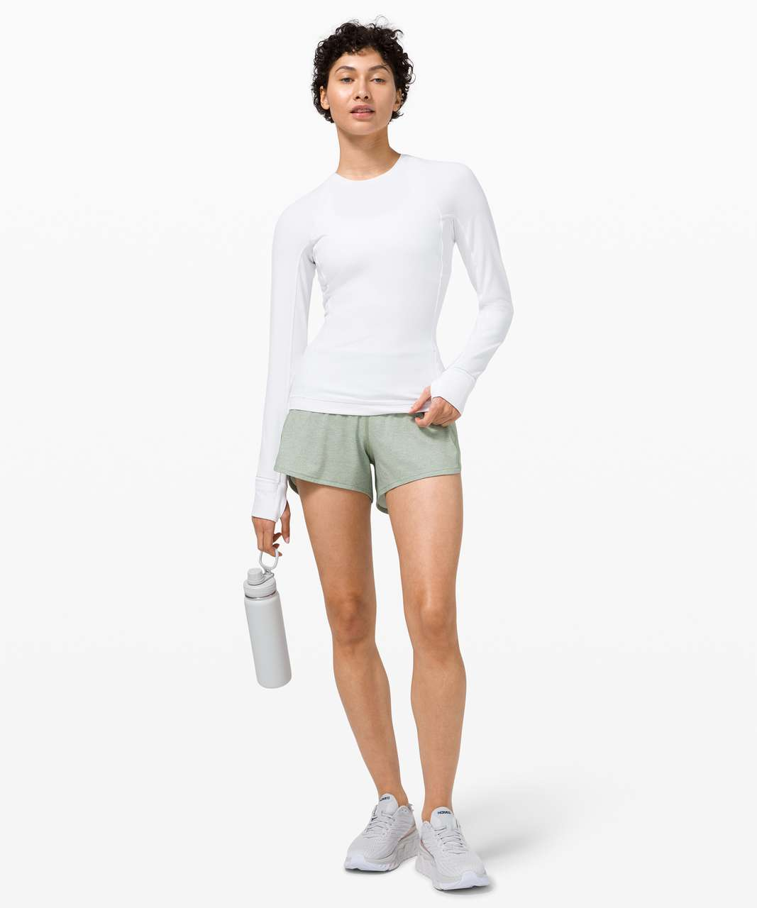 """Lululemon Speed Up Short Long *4"""" Updated Fit - Heather Lux Multi Willow Green / Willow Green"""