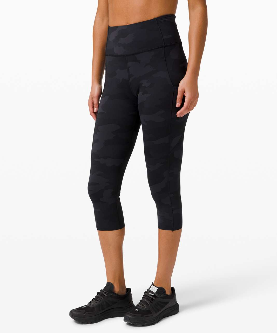 "Lululemon Fast and Free Crop II 19"" *Non-Reflective - Heritage 365 Camo Deep Coal Multi"