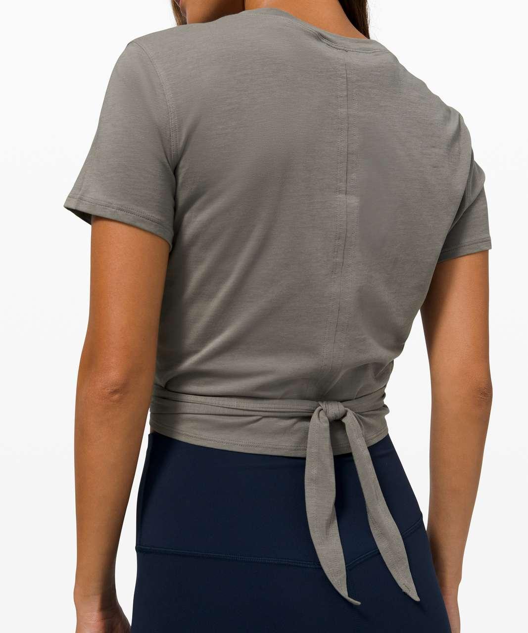 Lululemon Time To Restore Short Sleeve - Grey Sage