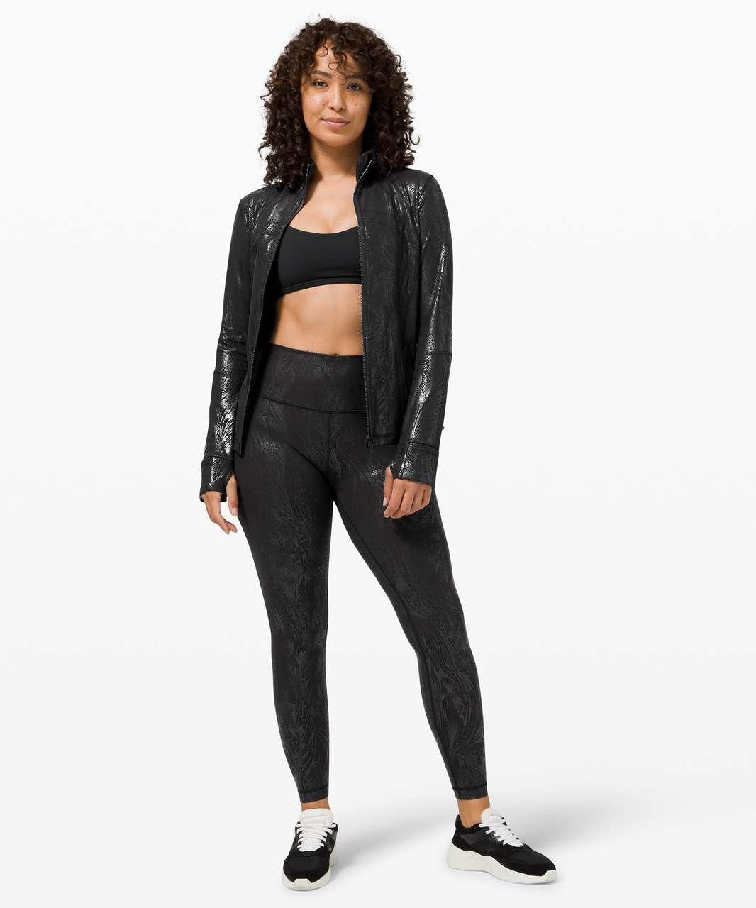 Lululemon Define Jacket *Shine - Acclimatize Black Black Foil
