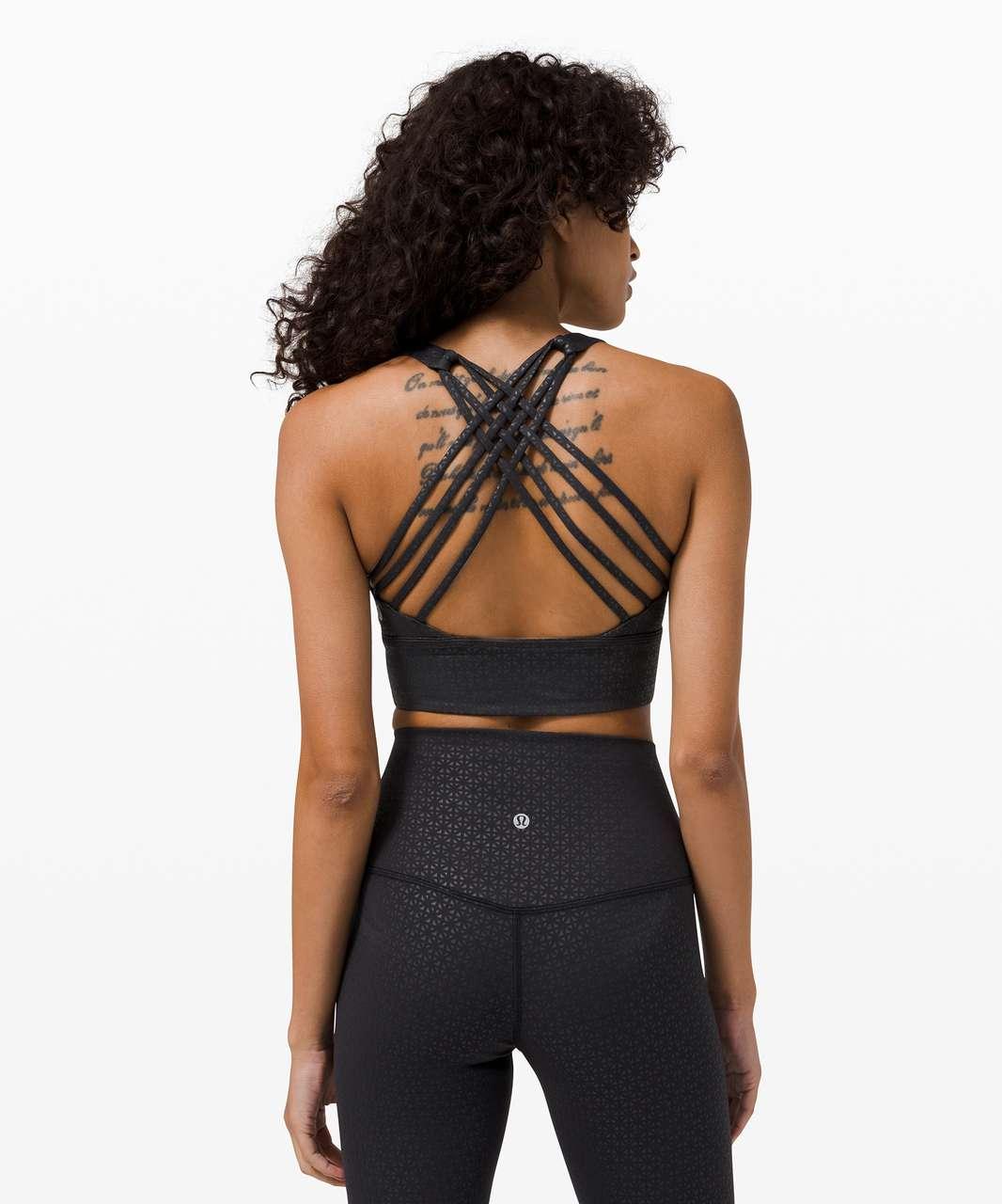 Lululemon Free to Be Bra Wild Long Line *Light Support, A/B Cup - Lattice Work Emboss Black