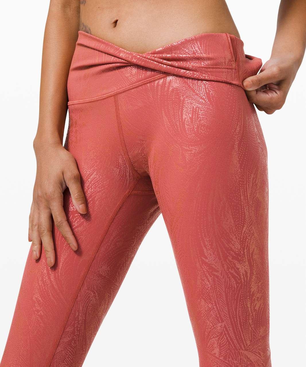 "Lululemon Wunder Under High-Rise Crop 23"" *Shine - Acclimatize Soft Cranberry Pink Foil"