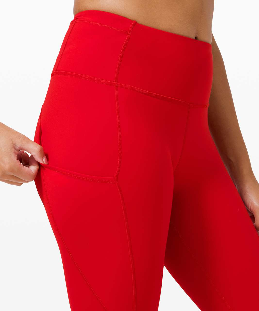 "Lululemon Fast and Free High-Rise Tight 28"" *Non-Reflective Brushed Nulux - Dark Red"