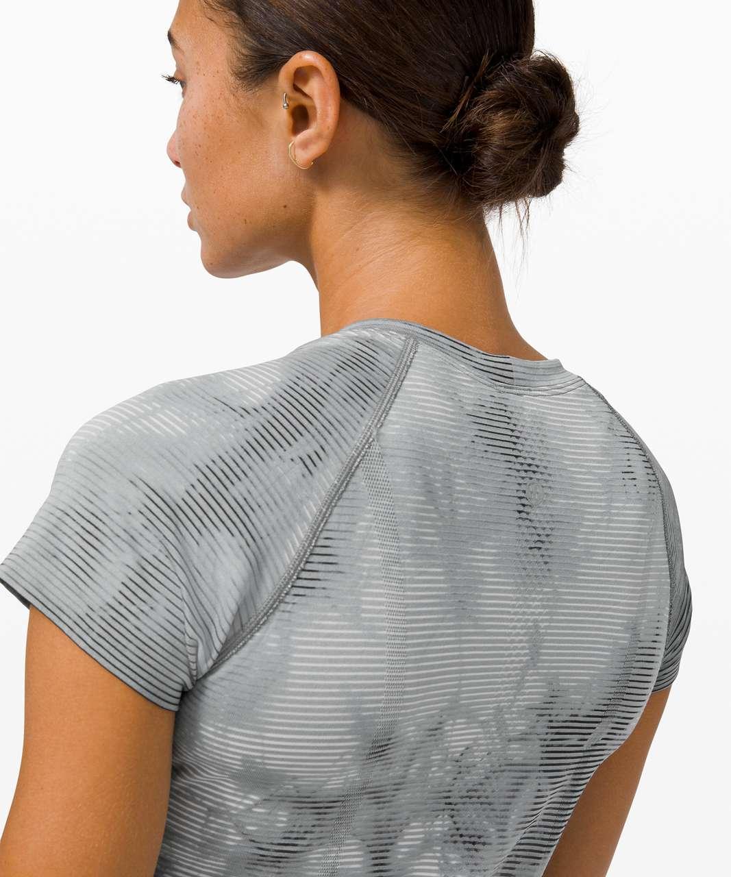 Lululemon Swiftly Tech Short Sleeve 2.0 *Shibori - Shibori Stripe Graphite Grey